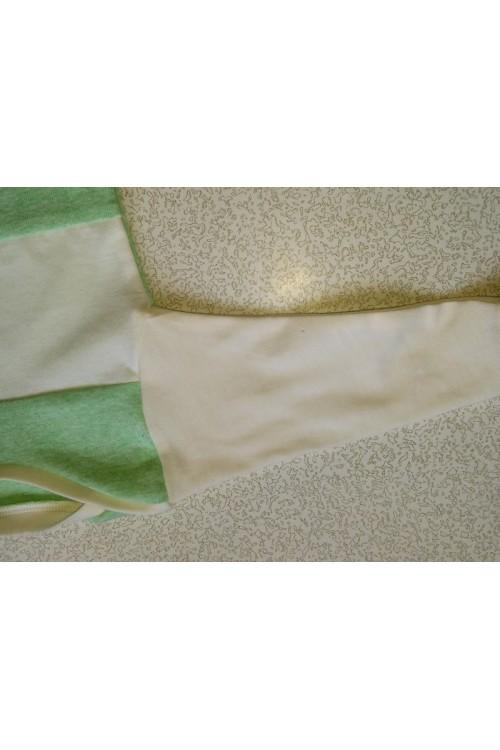Bodis kūdikiui žalios/baltos spalvos